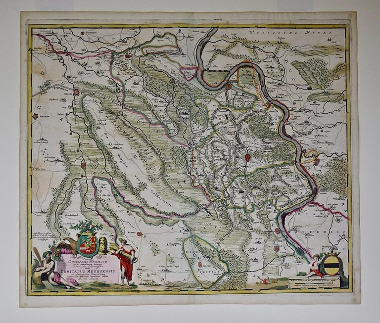 Dutch Hand-Colored 18th Century Map of Germany West of the Rhine by de Wit For Sale