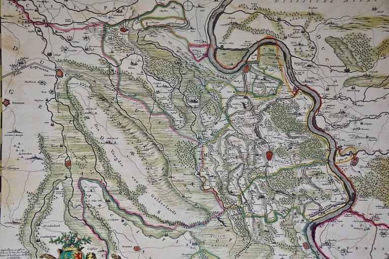 Hand-Colored 18th Century Map of Germany West of the Rhine by de Wit For Sale 2