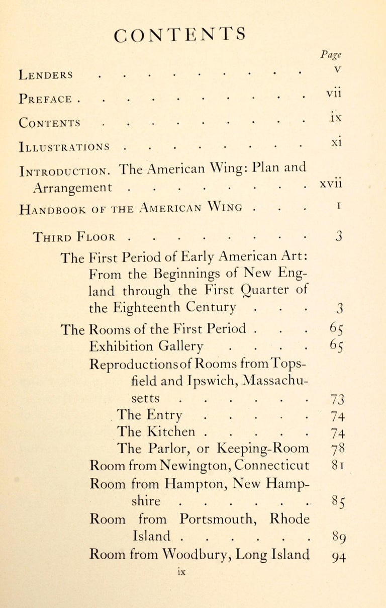 Handbook of the American Wing Opening Exhibition, Presentation Copy For Sale 8