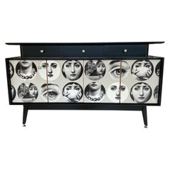Handfinished 1950s Sideboard with Fornasetti Decoupage