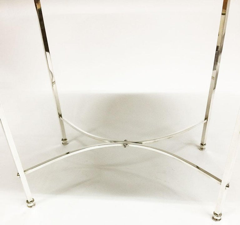 British Harrison Brothers & Howson English Silver-Plated Tea Table For Sale