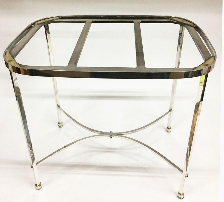20th Century Harrison Brothers & Howson English Silver-Plated Tea Table For Sale