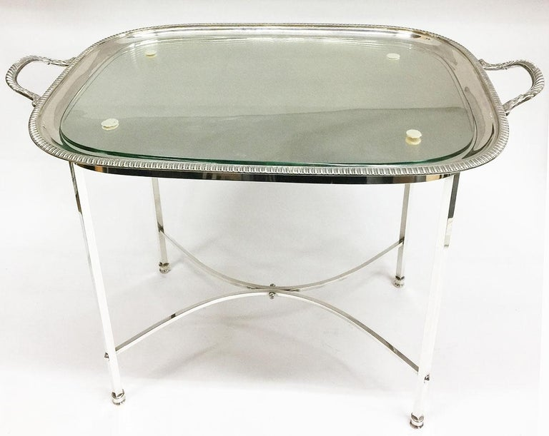 Harrison Brothers & Howson English Silver-Plated Tea Table For Sale 3