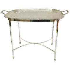 Harrison Brothers & Howson English Silver-Plated Tea Table