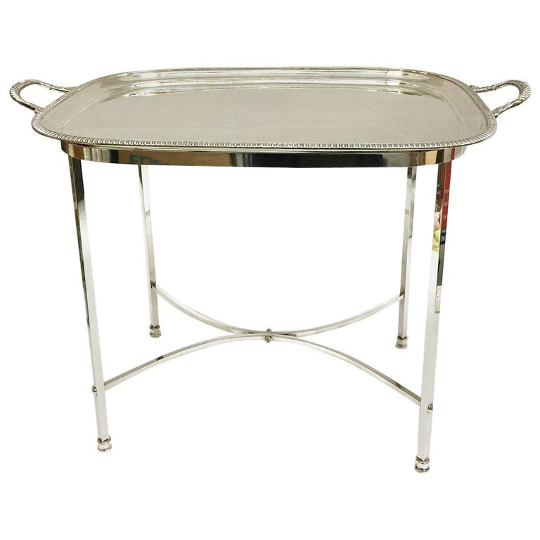 Harrison Brothers & Howson English Silver-Plated Tea Table For Sale