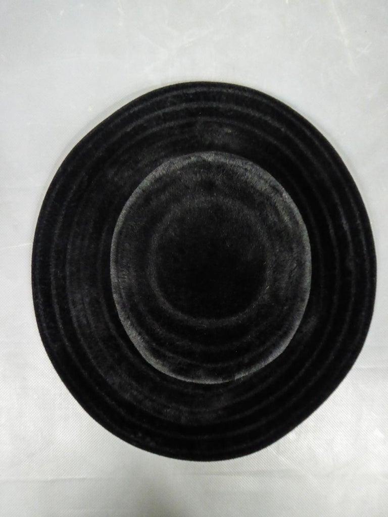 A Harrods Plush Felt Hat by Atelier Lucas - London Circa 1970  For Sale 6