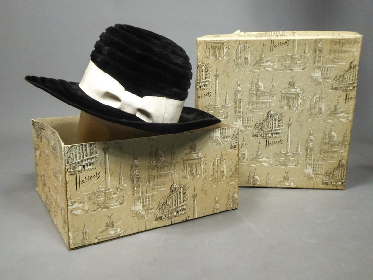 A Harrods Plush Felt Hat by Atelier Lucas - London Circa 1970  For Sale 9