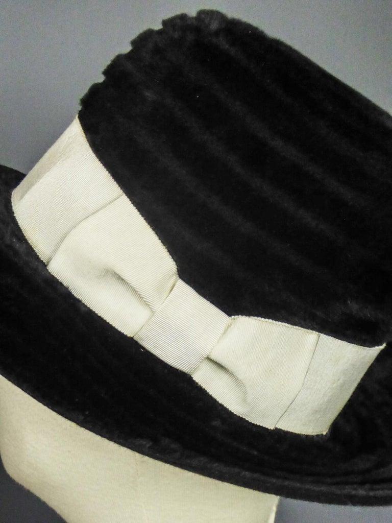 Women's A Harrods Plush Felt Hat by Atelier Lucas - London Circa 1970  For Sale