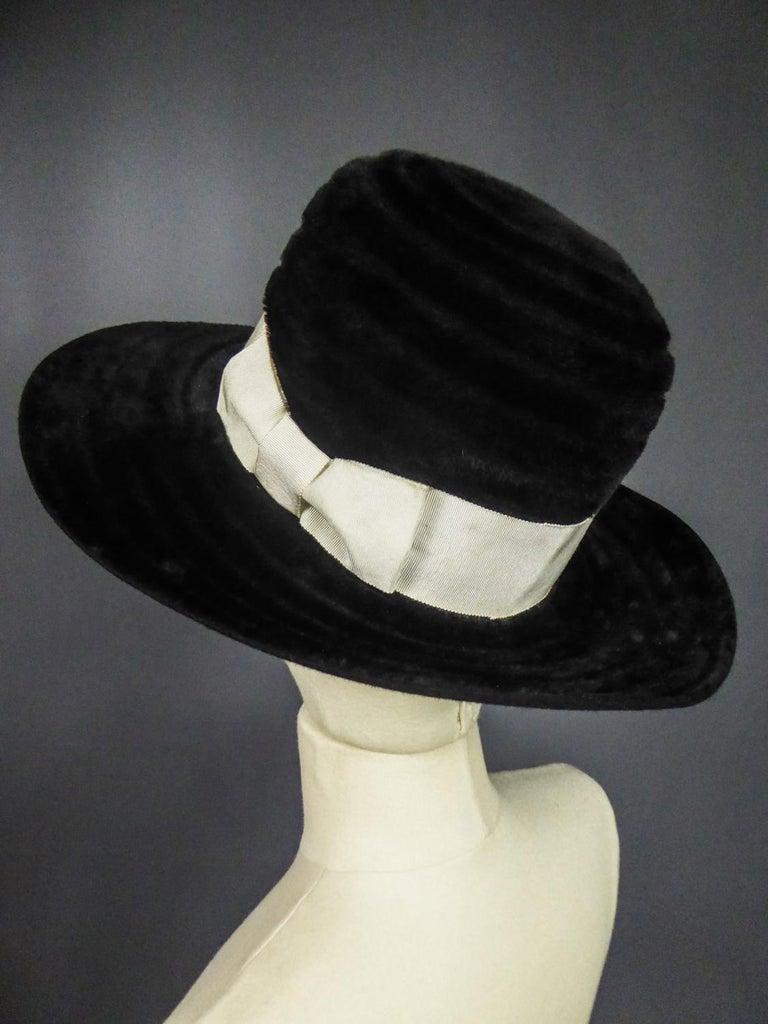 A Harrods Plush Felt Hat by Atelier Lucas - London Circa 1970  For Sale 1