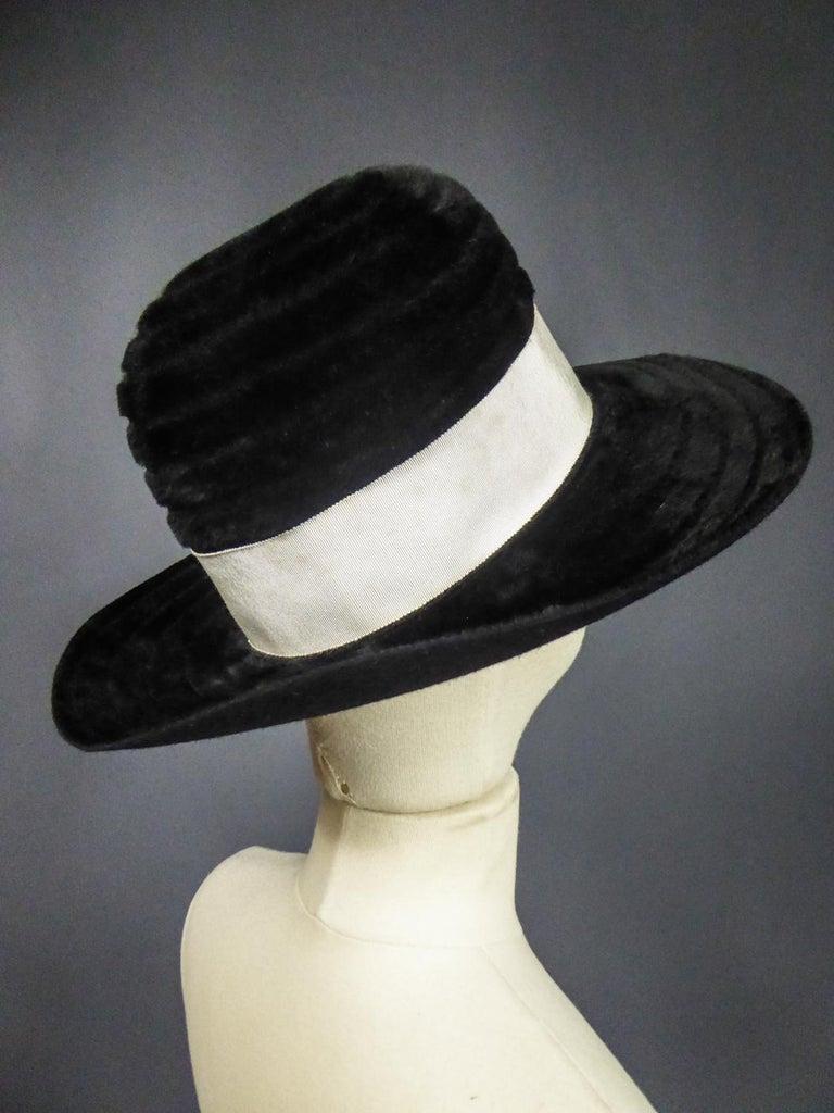 A Harrods Plush Felt Hat by Atelier Lucas - London Circa 1970  For Sale 3