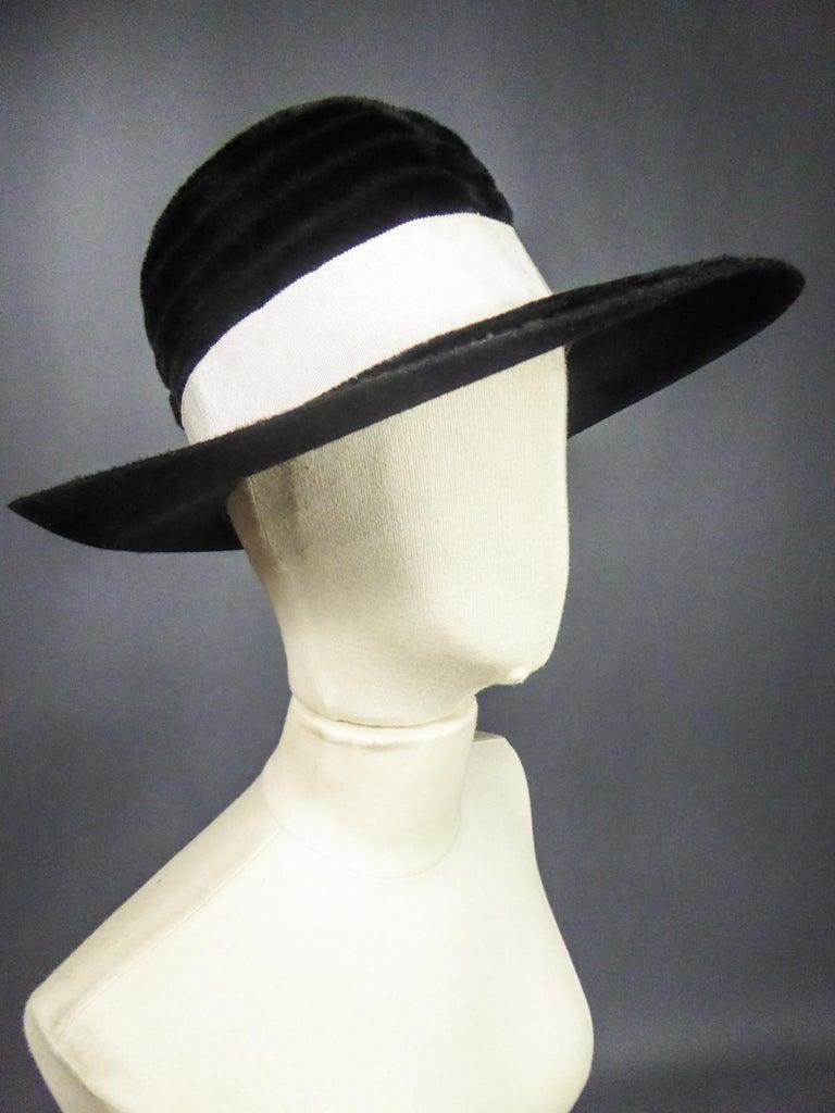 A Harrods Plush Felt Hat by Atelier Lucas - London Circa 1970  For Sale 4