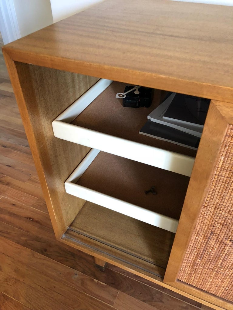Mid-20th Century Harvey Probber Credenza with Caned Panels For Sale