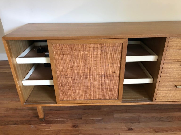 Harvey Probber Credenza with Caned Panels For Sale 1