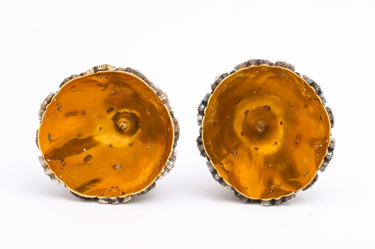 Highly Important Museum Quality Pair of Diamond and Enamel Zarfs For Sale 5