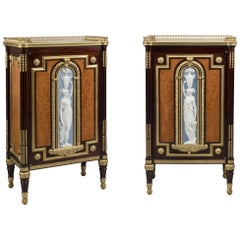 Highly Important Pair of Neoclassical Side Cabinets by Jules Piret, circa 1860