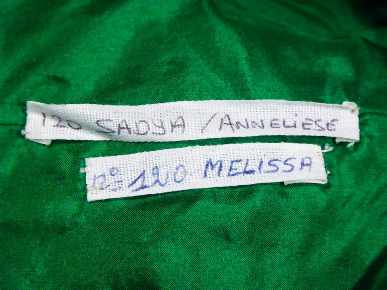 A Hubert de Givenchy Catwalk Dress in Satin and Lamé Velvet Circa 1985 For Sale 11