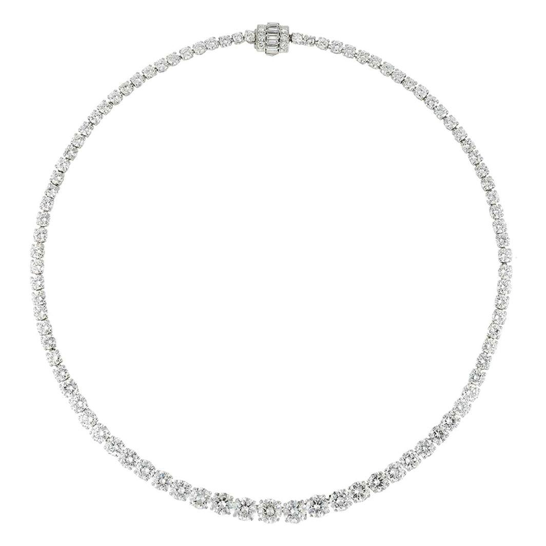 A Important Diamond Riviere Necklace