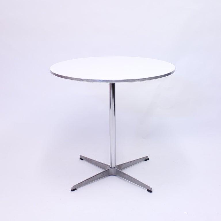 Scandinavian Modern A. Jacobsen, B. Mathsson, P. Hein, Circular Dining Table, Fritz Hansen, 1987