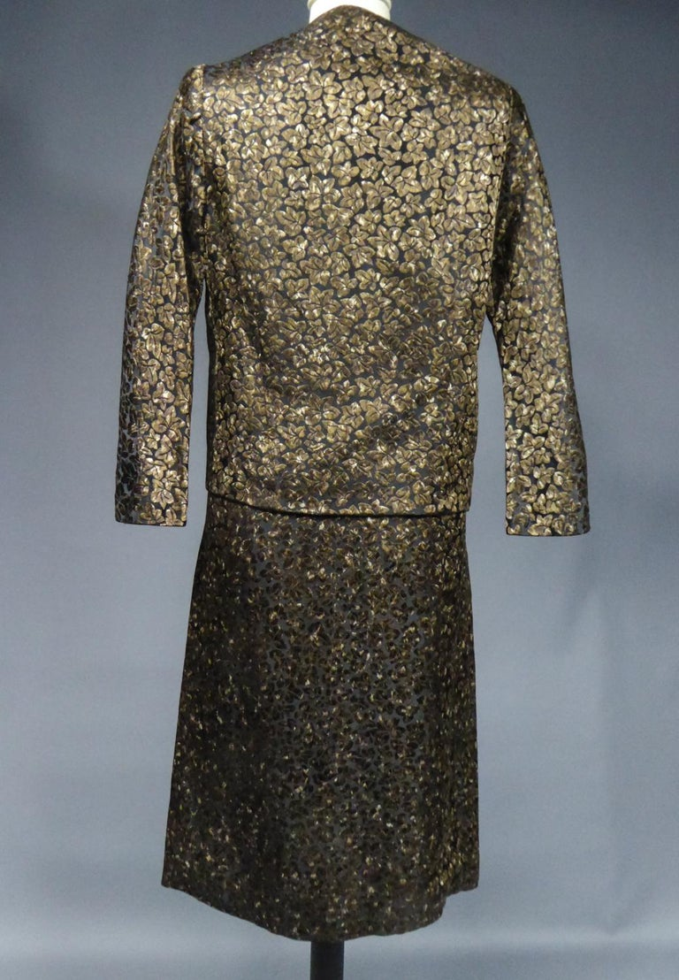 A Jacques Griffe French Couture Dress and Jacket Set Circa 1960 For Sale 6