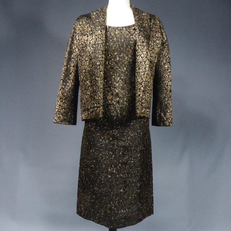 A Jacques Griffe French Couture Dress and Jacket Set Circa 1960 For Sale 8