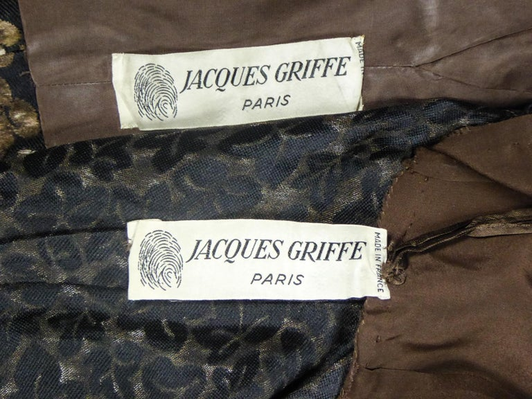 Black A Jacques Griffe French Couture Dress and Jacket Set Circa 1960 For Sale