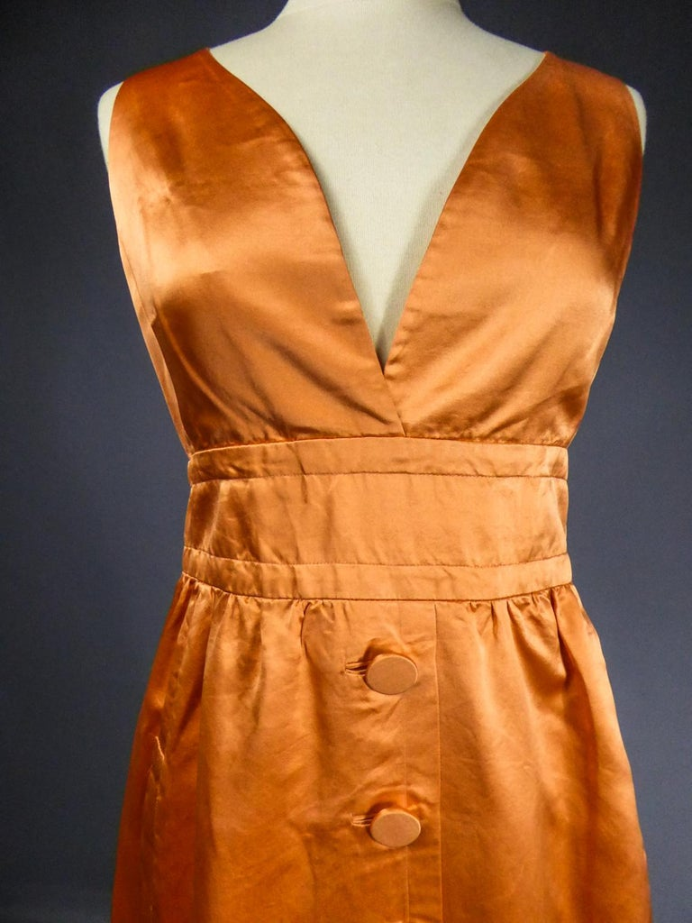 A Jacques Heim French Couture Mandarin Satin Silk Set Circa 1950/1960 For Sale 10