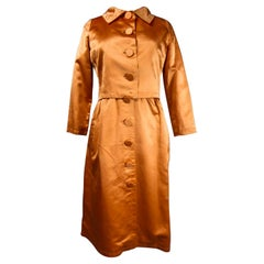 A Jacques Heim French Couture Mandarin Satin Silk Set Circa 1950/1960