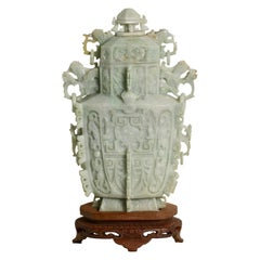 Jade Vase and Cover, Chinese