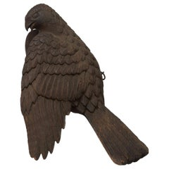 Japanese Carved-Wood Model of a Hawk, Momoyama Period
