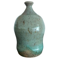 Japanese Contemporary Ceramic Bottle Teruo Hara