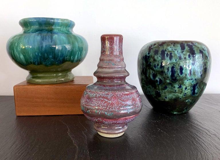 Asian Flambe Studio Pottery Vase For Sale 1