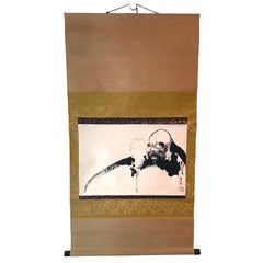 Japanese Hanging Scroll of Daruma