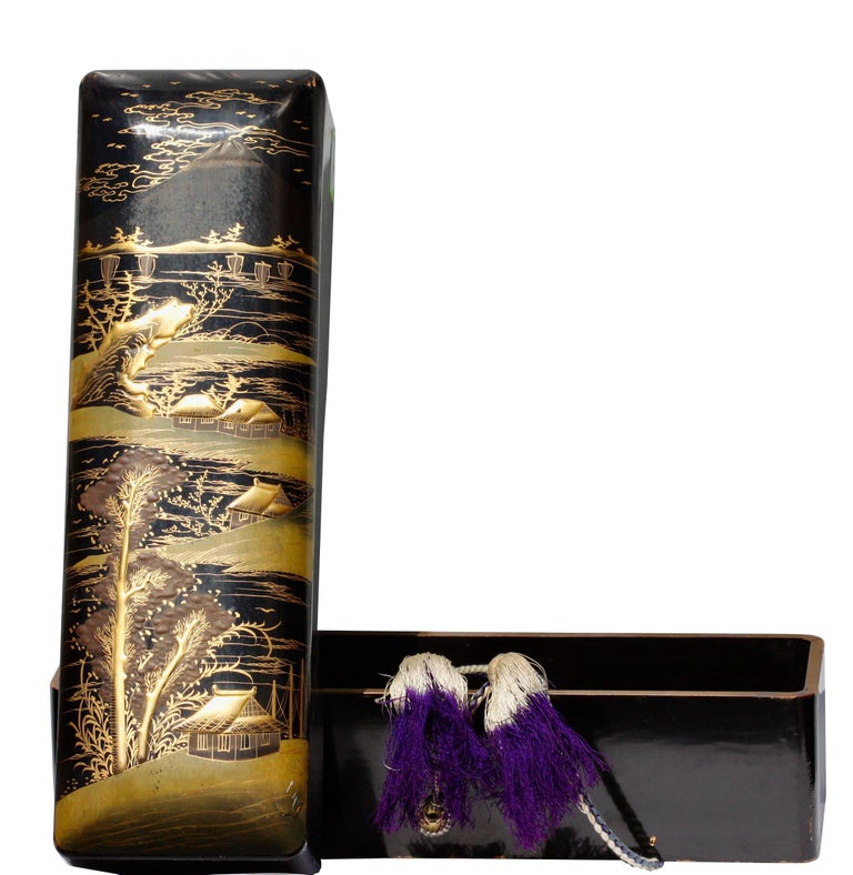 20th Century Japanese Lacquer Box, 19th Century For Sale