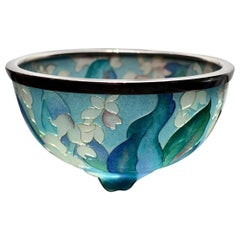 Japanese Plique-a-jour Bowl by Ando Jubei Company