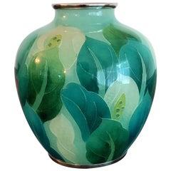 Japanese Plique-à-Jour Vase by Ando Jubei Company