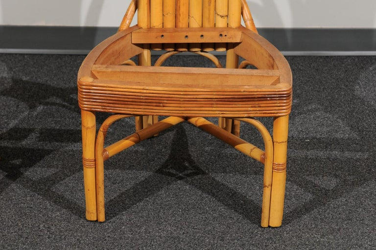 Jaw-Dropping Set of 8 Custom Made Palm Frond Dining Chairs, circa 1950 For Sale 8