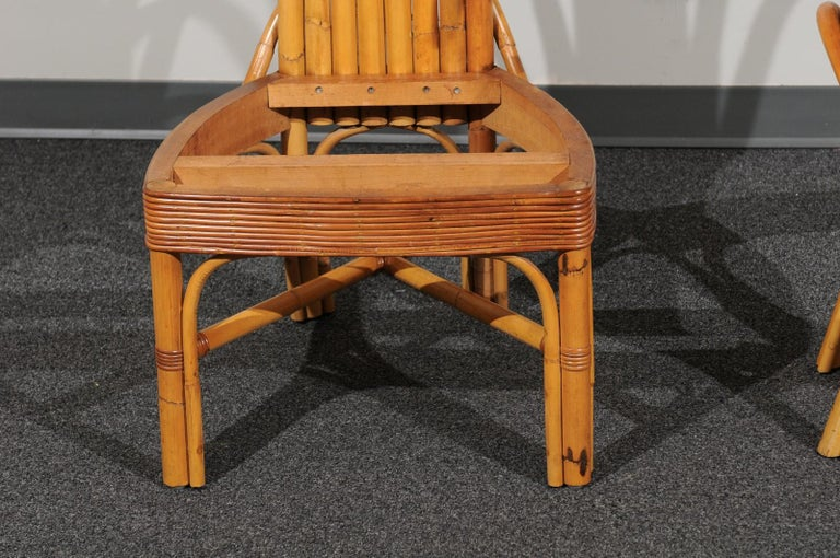Jaw-Dropping Set of 8 Custom Made Palm Frond Dining Chairs, circa 1950 For Sale 9