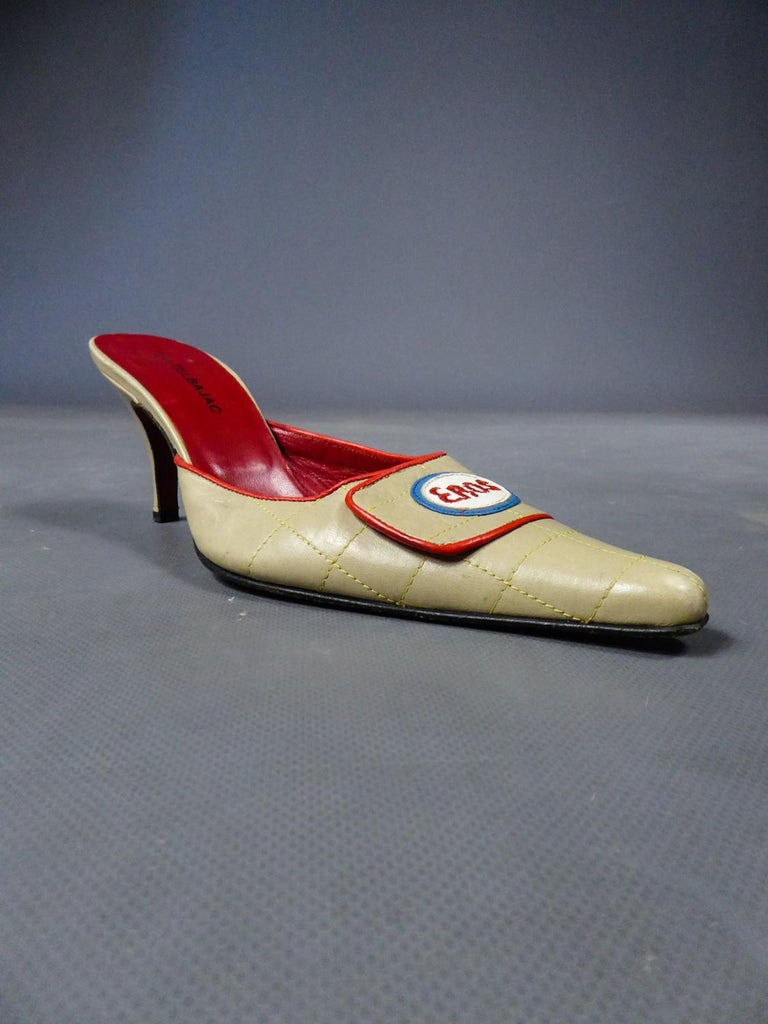 A Jean-Charles de Castelbajac Pair of Mules Circa 1990 For Sale 6
