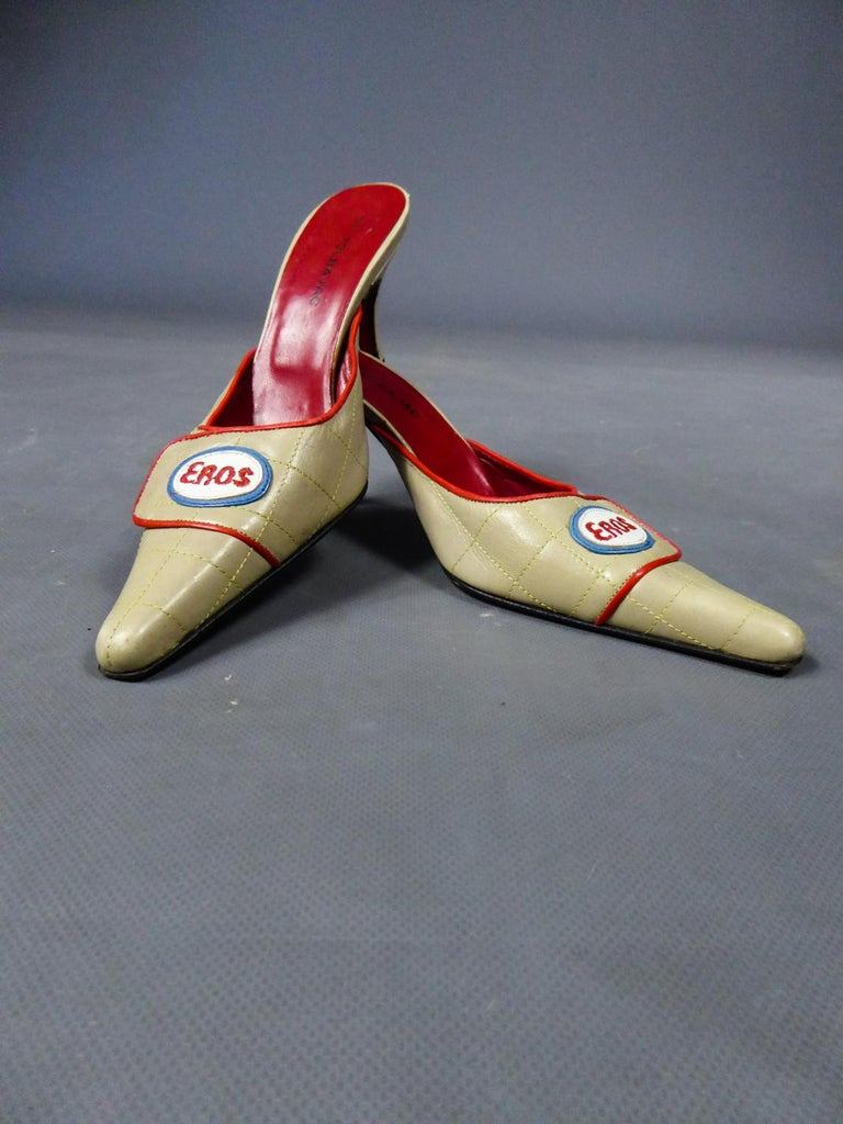 A Jean-Charles de Castelbajac Pair of Mules Circa 1990 For Sale 7