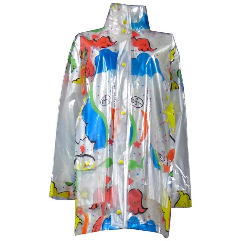 "A Jean-Charles de Castelbajac Raincoat named ""Breakfast Time"" Circa 2000 For Sale"