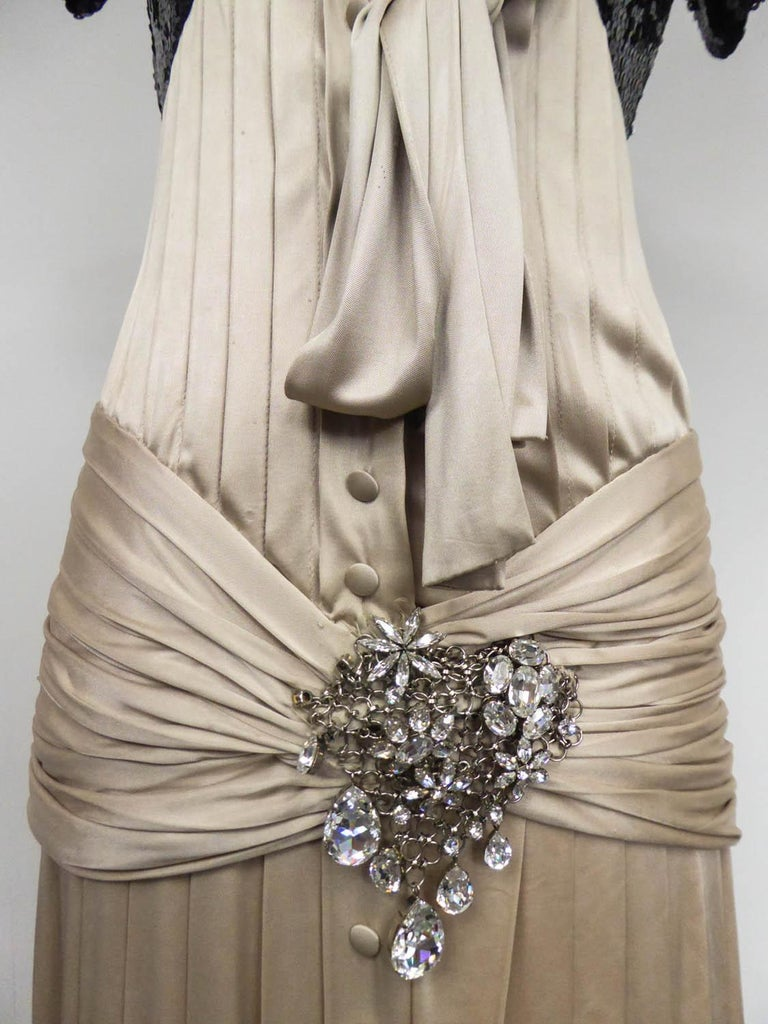 Brown A Jean-Louis Scherrer Fashion Show Dress by Stéphane Roland Collection Fall 2004 For Sale
