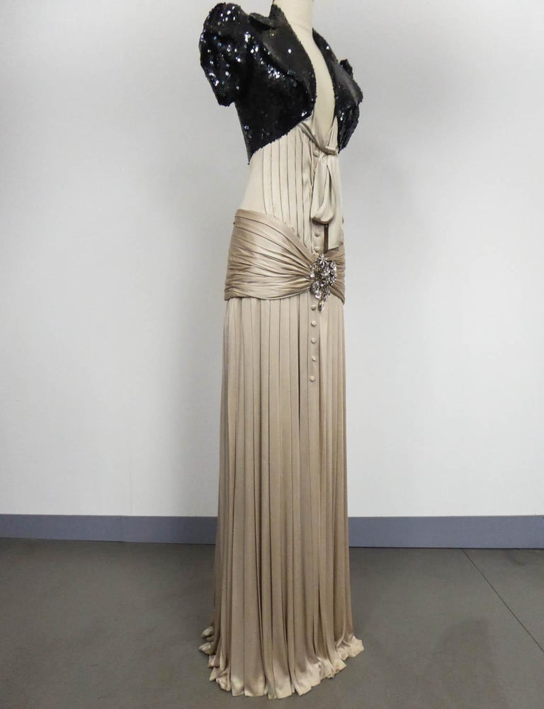 A Jean-Louis Scherrer Fashion Show Dress by Stéphane Roland Collection Fall 2004 For Sale 1