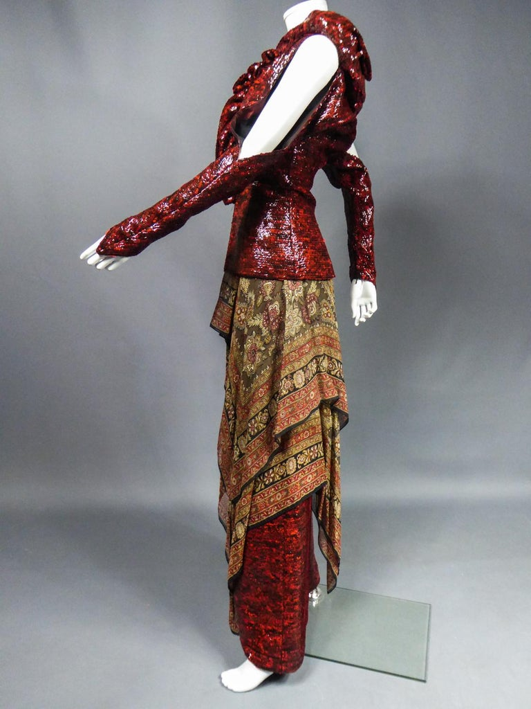 A Jean-Louis Scherrer Jacket and Pants Set for Fashion Show Winter 2001-2002 For Sale 8
