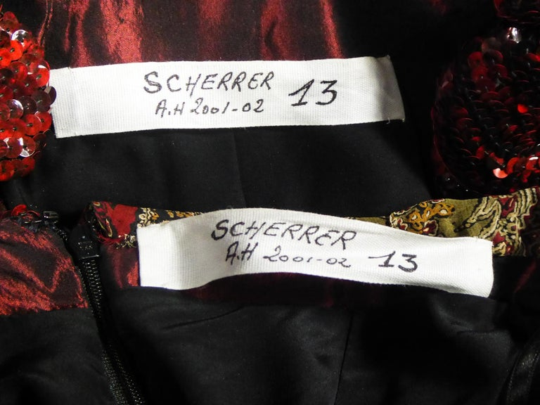 A Jean-Louis Scherrer Jacket and Pants Set for Fashion Show Winter 2001-2002 In Excellent Condition For Sale In Toulon, FR