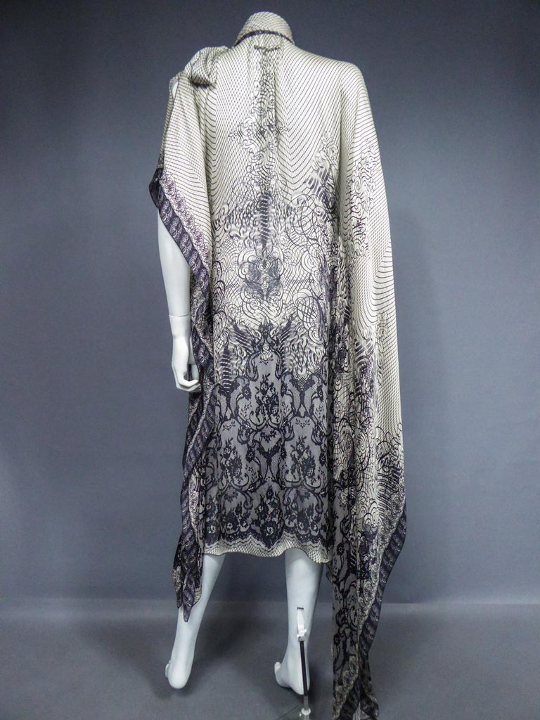 A Jean-Paul Gaultier Tunic Dress in Printed Silk - Spring / Summer 2009 For Sale 6