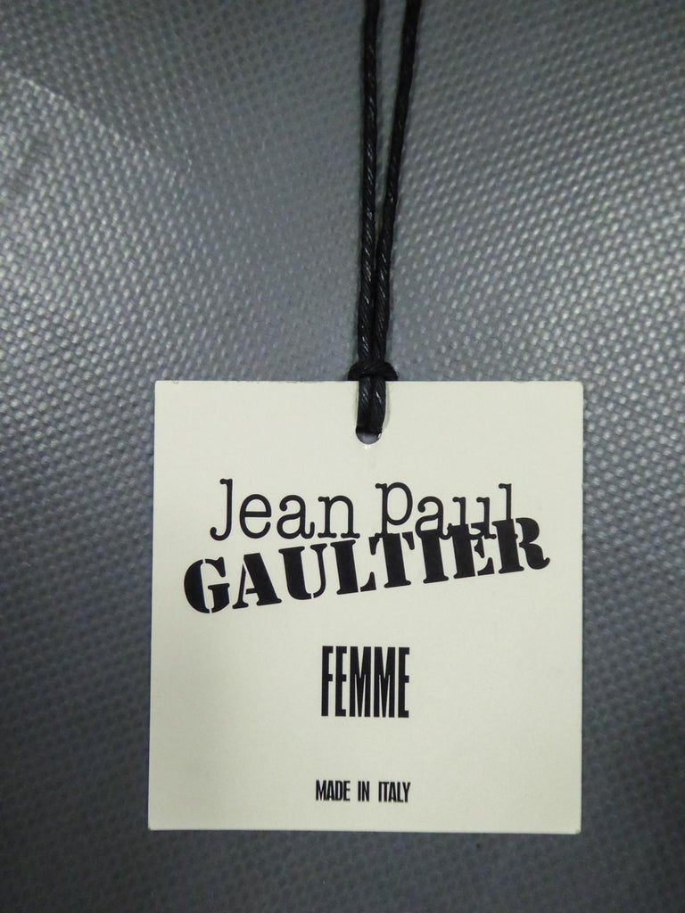 A Jean-Paul Gaultier Tunic Dress in Printed Silk - Spring / Summer 2009 For Sale 9