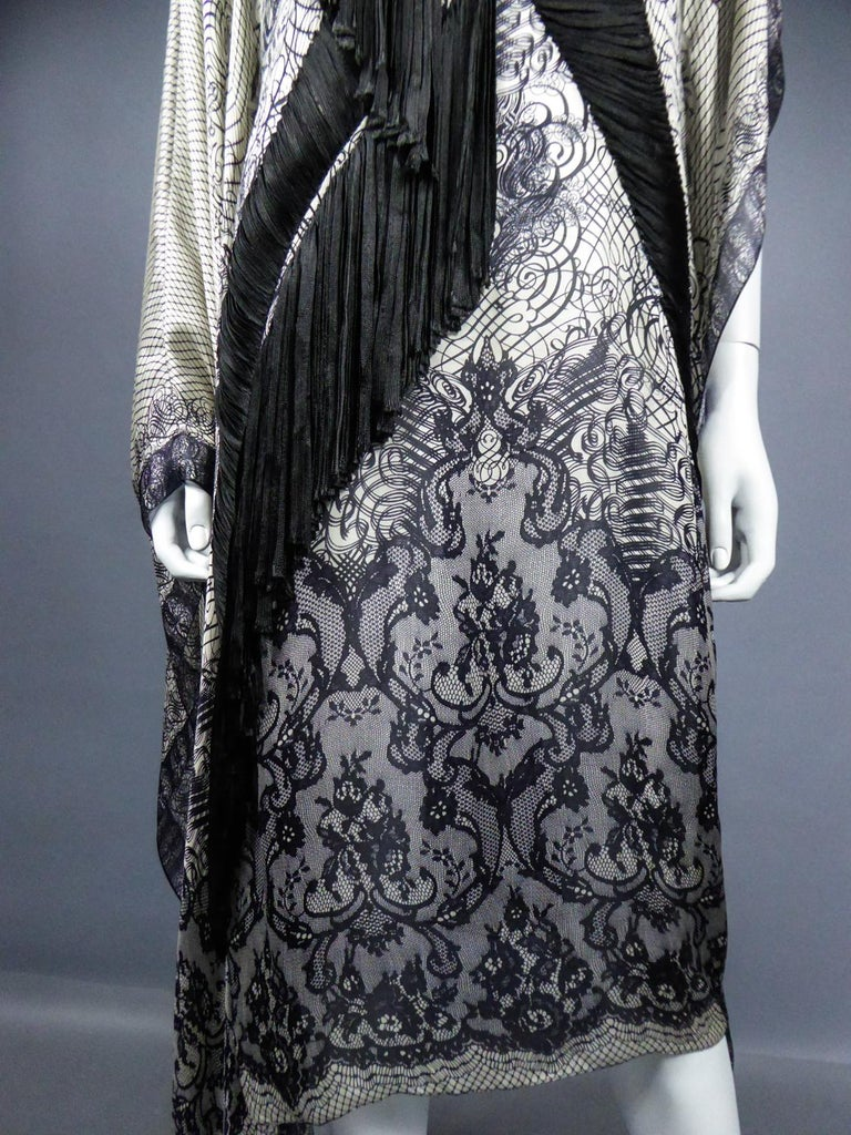 Women's A Jean-Paul Gaultier Tunic Dress in Printed Silk - Spring / Summer 2009 For Sale