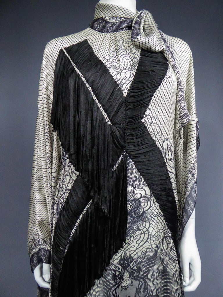 A Jean-Paul Gaultier Tunic Dress in Printed Silk - Spring / Summer 2009 For Sale 1