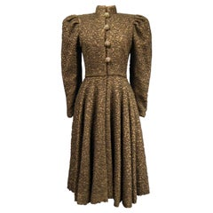 A Jeanne Lanvin Couture Dress-Coat in Wool Circa 1945
