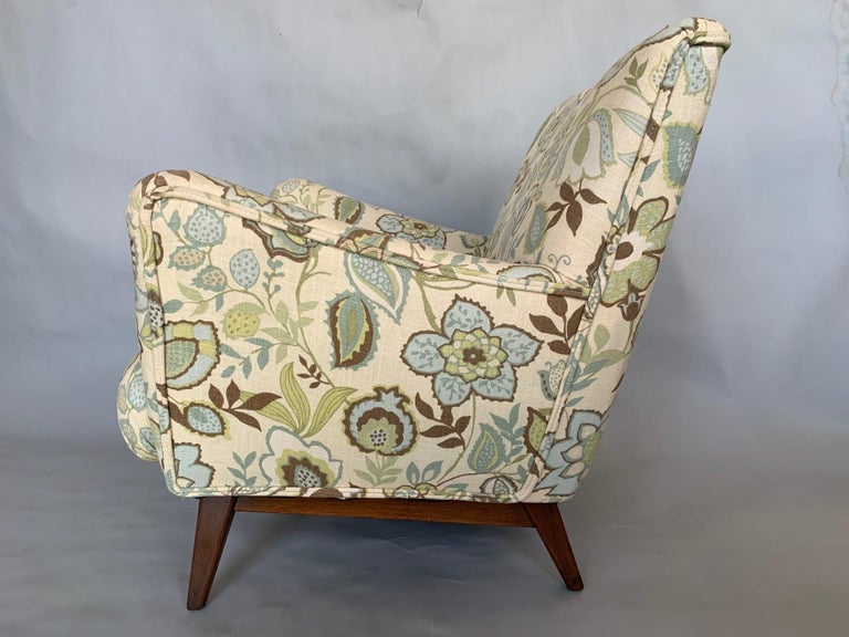 American Jens Risom Upholstered Lounge Chair For Sale